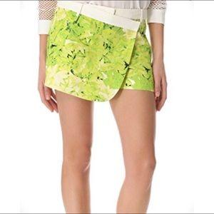 Tibi Dasies Wrap Shorts SZ 2